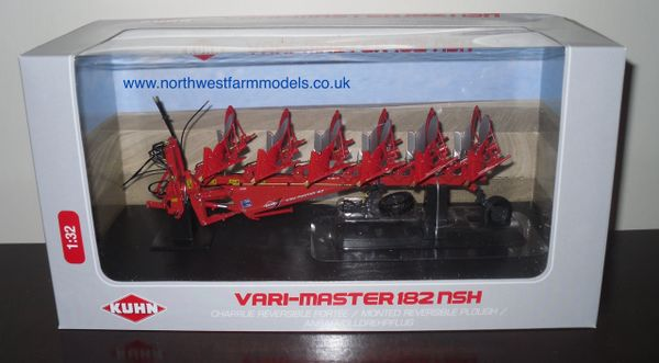 UH4199 1/32 Universal Hobbies Kuhn Vari-Master 6 Furrow Reversible Plough (Dealer Box)