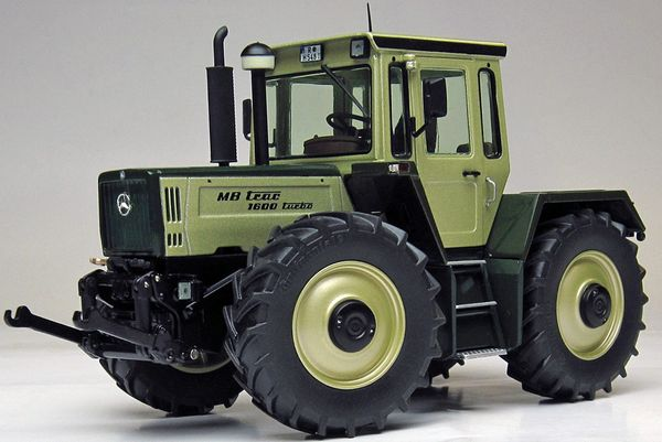 WEISE TOYS 1062 1:32 SCALE MB TRAC 1600 TURBO METALLIC GREEN