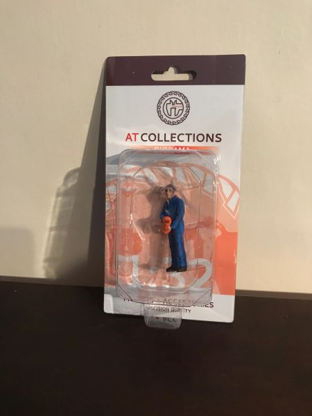 """AT COLLECTIONS 1:32 SCALE """"MARC ADDING OIL"""" FIGURE"""