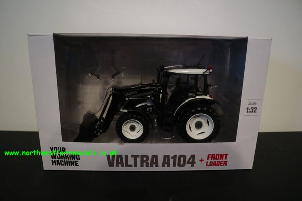 ROS 301542 1:32 SCALE VALTRA A104 HI-TECH WITH FRONT LOADER (WHITE) **BRAND NEW**