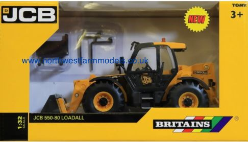 42872 1/32 Britains Farm JCB 550-80 Loadall