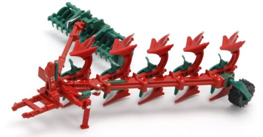 43049 1/32 Britains Farm Kverneland Plough and Pakomat Press