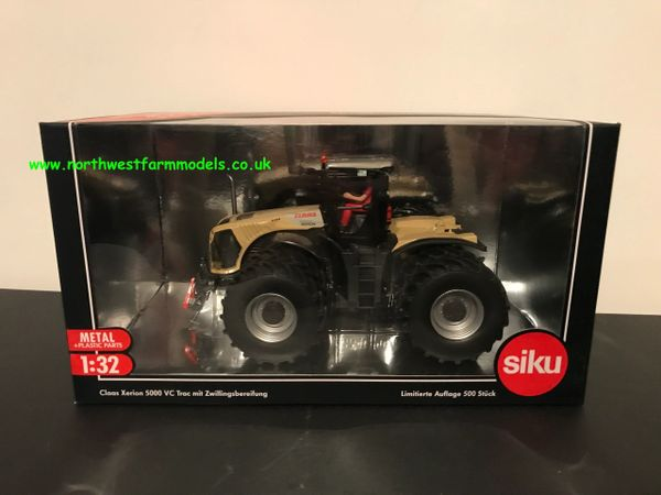 SIKU 1:32 SCALE CLAAS XERION 5000 VC TRAC WITH DUAL WHEELS ALL ROUND CREAM LIMITED EDITION