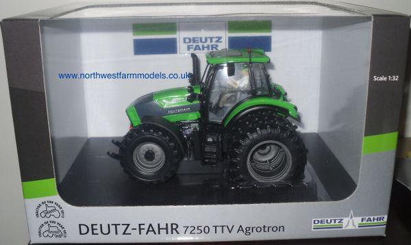 UH4296 Universal Hobbies 1/32 Deutz-Fahr 7250 TTV With Rear Duals Plus Driver