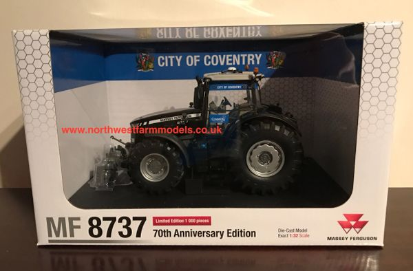 "5205 UNIVERSAL HOBBIES 1/32 SCALE MASSEY FERGUSON 8737 BLACK BEAUTY ""CITY OF COVENTRY"" LIMITED EDITION"