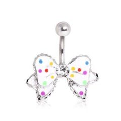Epoxy Bow with Single Bow Belly ring