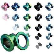 titanium ip 316L steel screw fit tunnel 10g