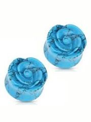 Turquoise Rose Carved Plug 00g