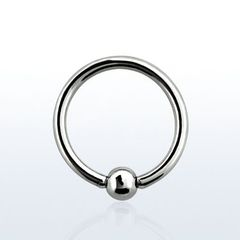 316L Surgical Steel Captive Bead Ring 0g