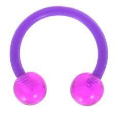 All UV Flexible Horseshoe 16g purple