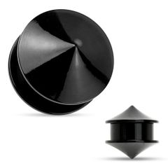 Double Cones Black Acrylic Screw Fit Stash Plugs 2g