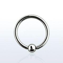 "316L Steel Captive Bead Ring 16g 1/2"""