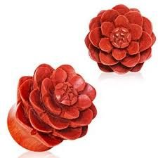 Organic Sawo Wood Lotus Blossom Saddle Plug 1""