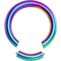 """Titanium IP Segment Ring 14g 3/8"""" rainbow"""