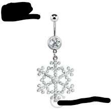 CZ Gem Belly Button Ring