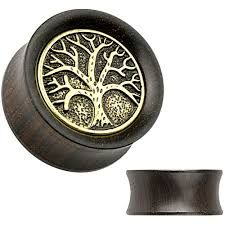 Organic Ebony Wood Saddle Tunnel with Tree of Life Top 0g