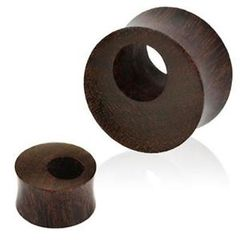 Offset Hole Wood Tunnel 7/8""