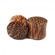 "Coco Wood Saddle Fit Organic Plug 5/8"""