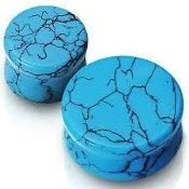 Turquoise Saddle Plugs 8g