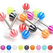 316L Candy Strip Barbell-Purple