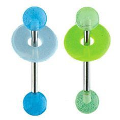 Glow In The Dark Ball And Matching Lifesaver Barbell green