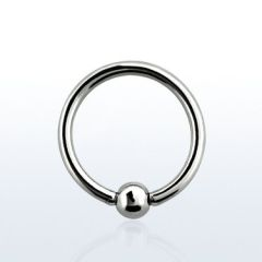 316L Surgical Steel Captive Bead Ring 00g