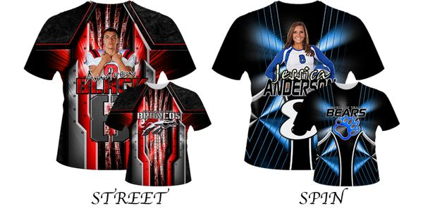 GameDay Shirts Fully Sublimated (Choose from 10 diff. Styles)