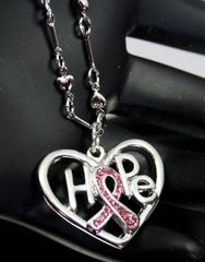 Pink Ribbon Hope, Necklace
