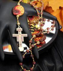 San Damiano Cross, Kazuri Bead Rosary