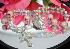 Petite Pastel Kazuri Bead Rosary