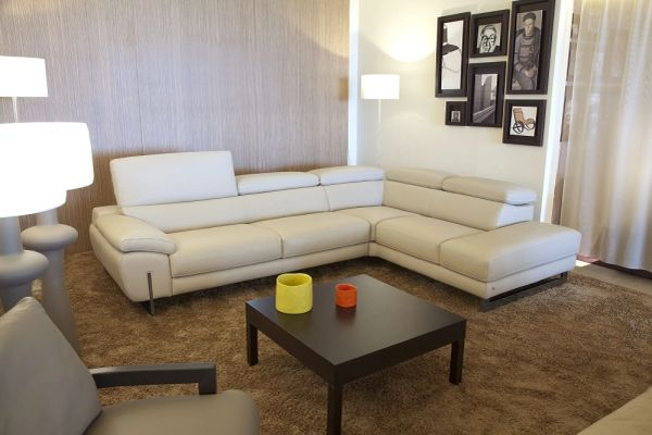 leather sectional grey sofa sectional couch nicoletti cheap home ...