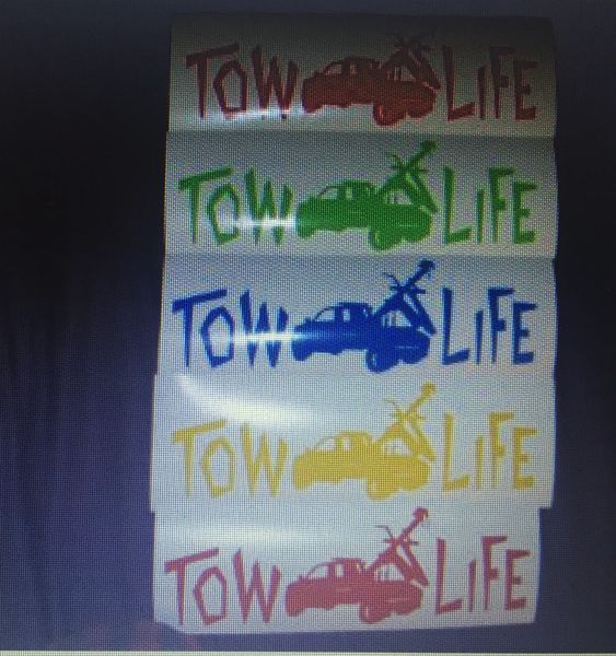 Tow Life Window Sticker