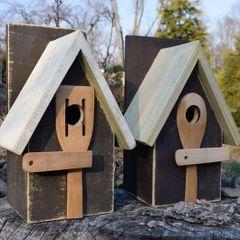 SOLD Rustic Birdhouse - Clove 1