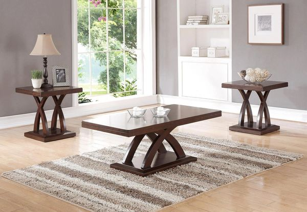 Poundex Coffee Table.F3100 Coffee Table Set By Poundex