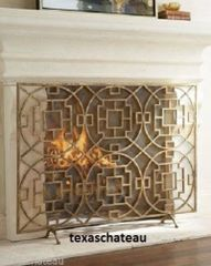 MODERN FRENCH CHINESE CHIPPENDALE FIREPLACE SCREEN MESH FIRE FIRESCREEN