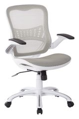 CHRYL26-WH WHITE MESH BACK AND SEAT OFFICE CHAIR