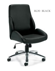 Global OTG 11786B Conference / Specialty Luxhide Bonded Leather Chair