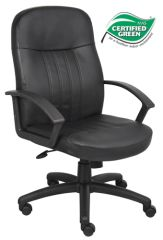 Boss Chair - Black Budget LeatherPlus High Back Executive Chair B8106