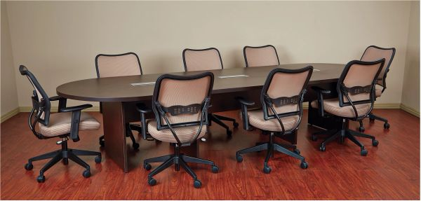 OSP EXP Racetrack Conference Table With Grommets - 30 conference table