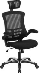 FF-BX-X-5H-GG HIGH BACK BLACK MESH EXECUTIVE SWIVEL OFFICE CHAIR WITH HEADREST