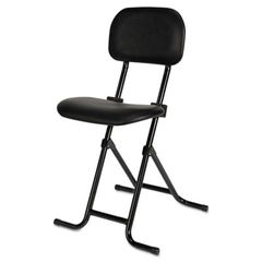 Alera Plus Il Series Height-Adjustable Folding Stool, Black