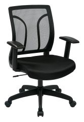 CHEM50727 SCREEN BACK CHAIR WITH MESH SEAT CUSTOM FABRICS AVAILABLE