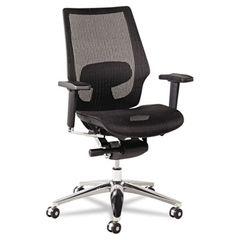 K8 Series Ergonomic Multifunction Mesh Chair, Aluminum Base/frame, Black