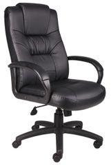 Boss Chair - Black LeatherPlus High Back Executive Chair B7501