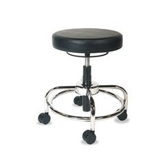 Alera Hl Series Height-Adjustable Utility Stool, Black