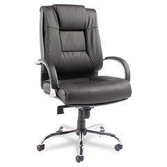 Ravino Big & Tall Series High-Back Swivel/tilt Leather Chair, Black