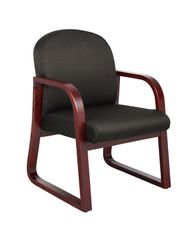 Boss Chair - Wood Reception / Guest Chairs - Colors Available B9570