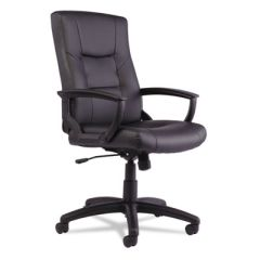 Yr Series Executive High-Back Swivel/tilt Leather Chair, Black