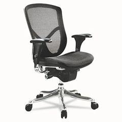 Alera® EQ Series Ergonomic Multifunction Mid-Back Mesh Chair, Aluminum Base