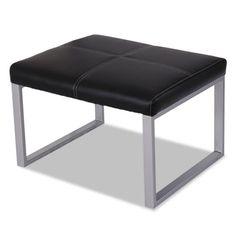 Ispara Series Cube Ottoman, Black/silver